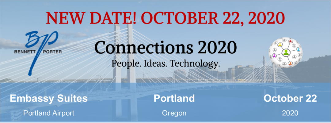 Connections 2020 New Date - October 22, 2020