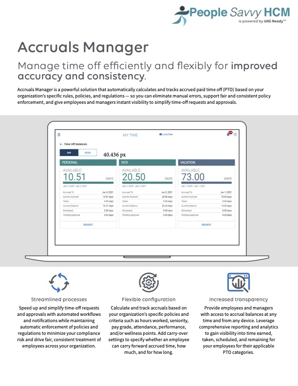 People Savvy HCM Payroll Features