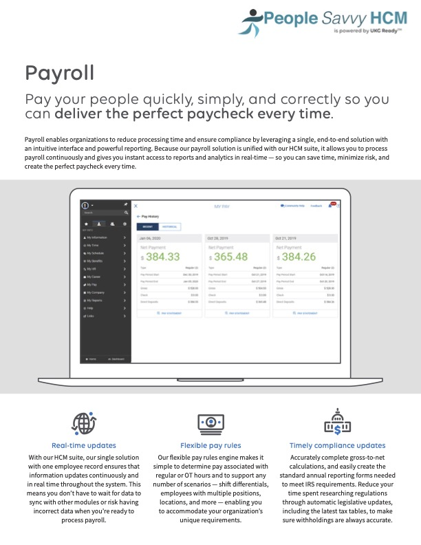 People Savvy HCM Payroll Overview